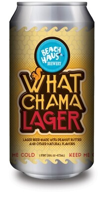 Whatchmalager CHOCOLATE, PEANUT BUTTER, & VANILLA LAGER - 16 oz. (4 pack)