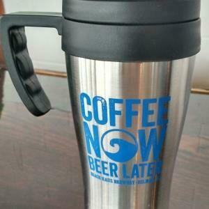 Coffee Now, Beer Later Travel Mug