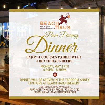 Beer Pairing Dinner Ticket - May 17, 2021