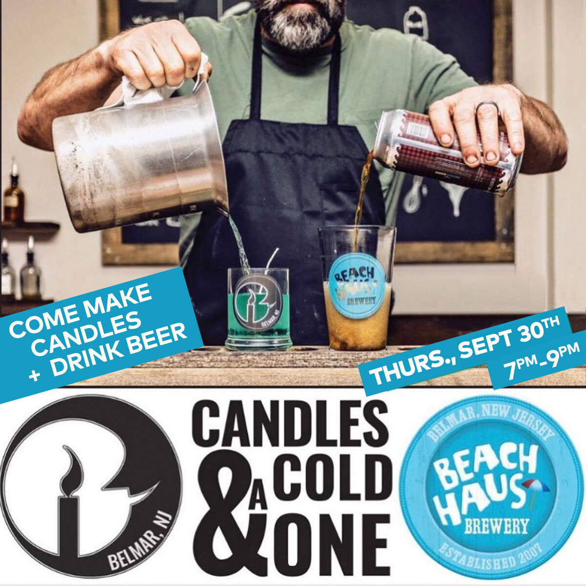 Candles & A Cold One Ticket - September 30, 2021