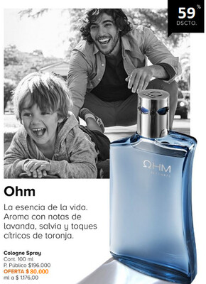 Colonia Ohm para caballero Yanbal