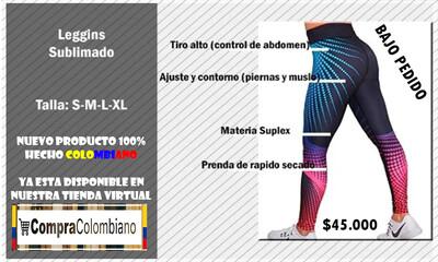 Leggins Lycra Deportiva Sublimada Para Mujer
