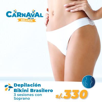 Depilación Bikini Brasilero (3 Sesiones)