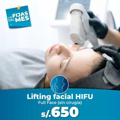 Lifting facial con HIFU (rostro completo)