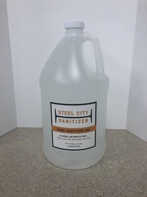 Steel City Sanitizer Gel - 1 Gallon Jug