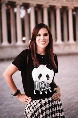 Wild By Janin Barboza Panda T-shirt Black Size U Buy Venezuelan Event Special Price June 6th