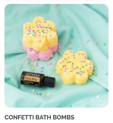 DIY Confetti Bath Bomb Kit