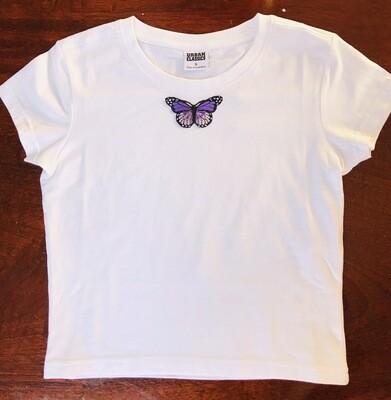 Butterfly Crop Top T-shirt 🦋 Size 11-13