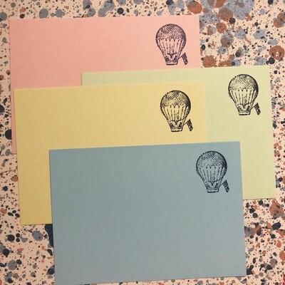 Nibu Letterpress 4 Pack Hot Balloon Cards