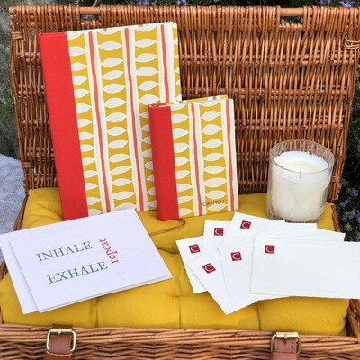 Nibu Letterpress Well-being Stationary Hamper / Personalised With Initial Or Name