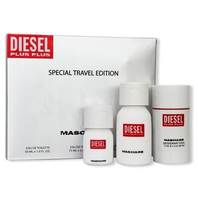 DIESEL PLUS PLUS ESTUCHE ESPECIAL TRAVEL EDITION HOMME EDT 75ML + 30 MLDT + D75ML