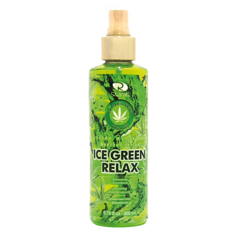 LOCIÓN MENTOLADA RELAJANTE ICE GREEN 200ML
