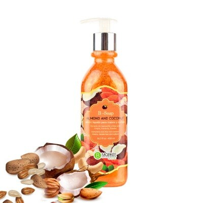 B-SOAP ALMOND AND COCONUT 420 ML