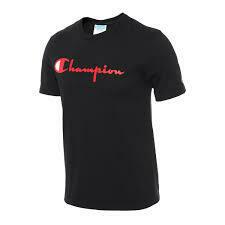CHAMPION TSHIRT BLACK