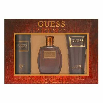 GUESS BY MARCIANO GIFT SET FOR MEN/ DEODORIZING 226ML- EDT100ML- SHOWER GEL 200ML