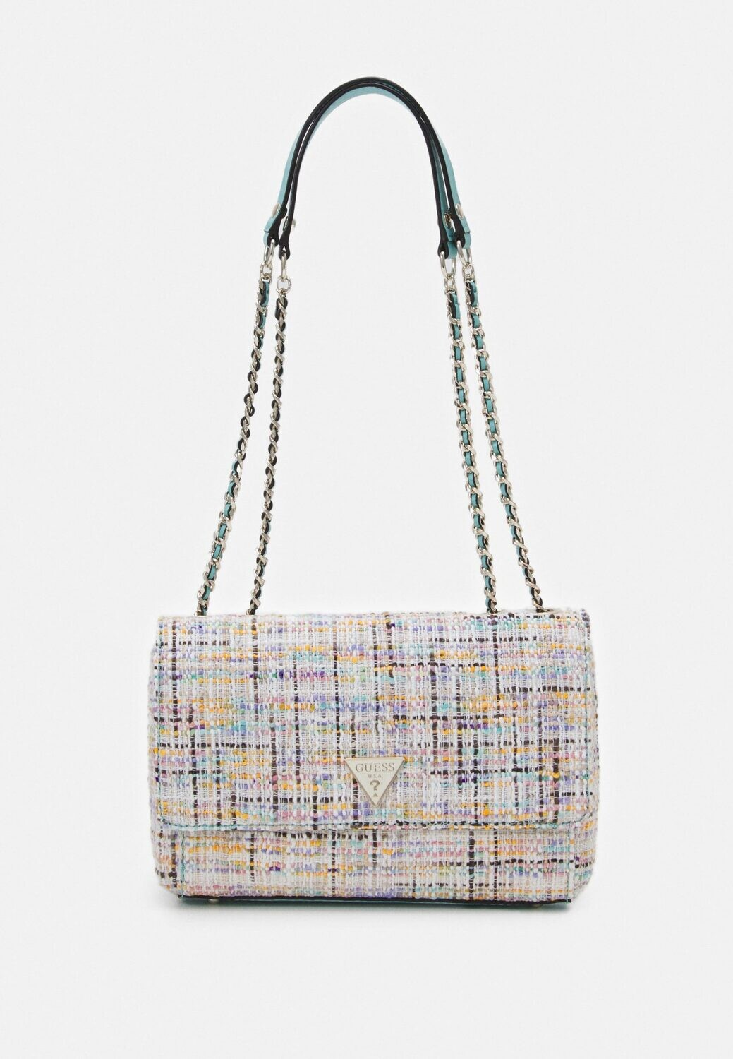 GUESS CESSILY CONVERTIBLE TWEED CROSSBODY