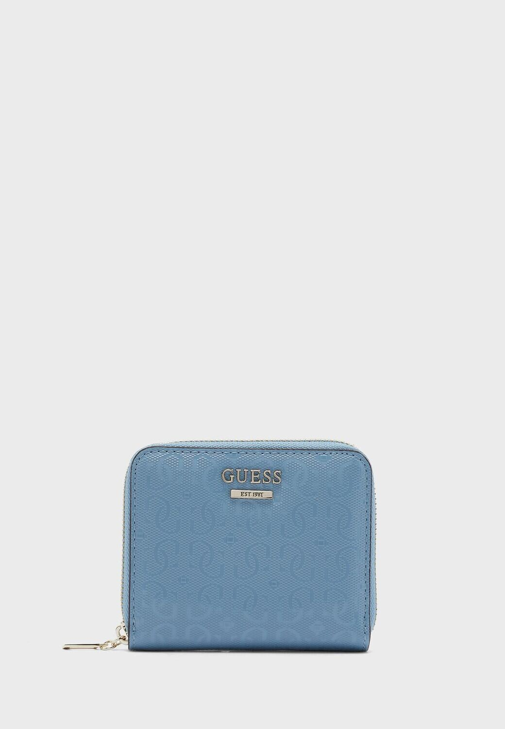 GUESS BLANE SMALL BLUE WALLET