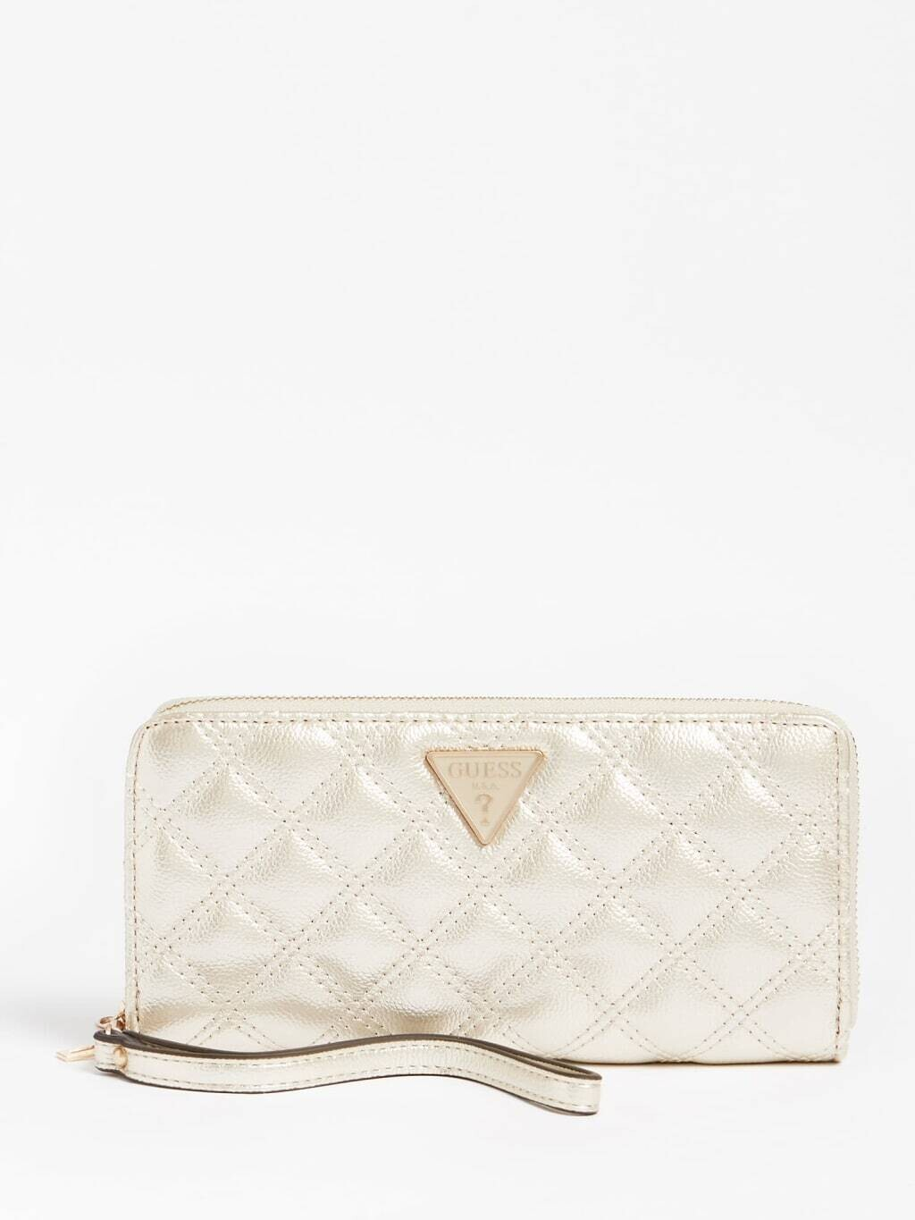 GUESS CESSILLY TOP ZIP CHAMPAGNE WALLET