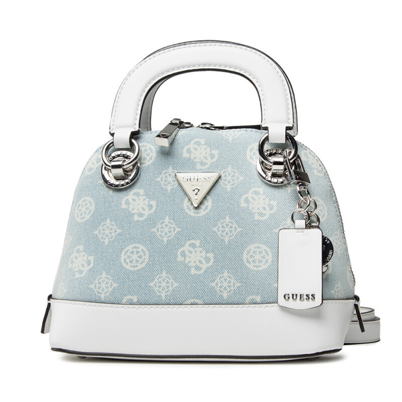 GUESS CESSILY SMALL DENIM DOME SATCHEL