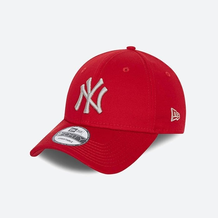 NEW ERA 9FORTY RED SILVER YANKEE CAP