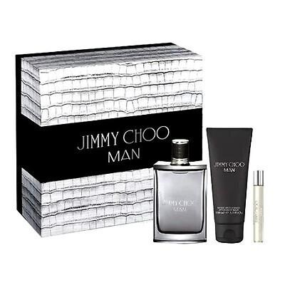 JIMMY CHOO MAN EDT 100ML SET +AFTERSHAVE +MINI