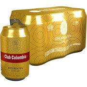 CERVEZA CLUB COLOMBIA DORADA LATA SIX PACK X 330 ML