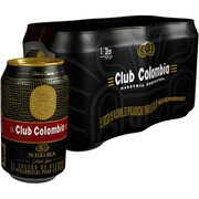 CERVEZA CLUB COLOMBIA NEGRA LATA SIX PACK X 330 ML