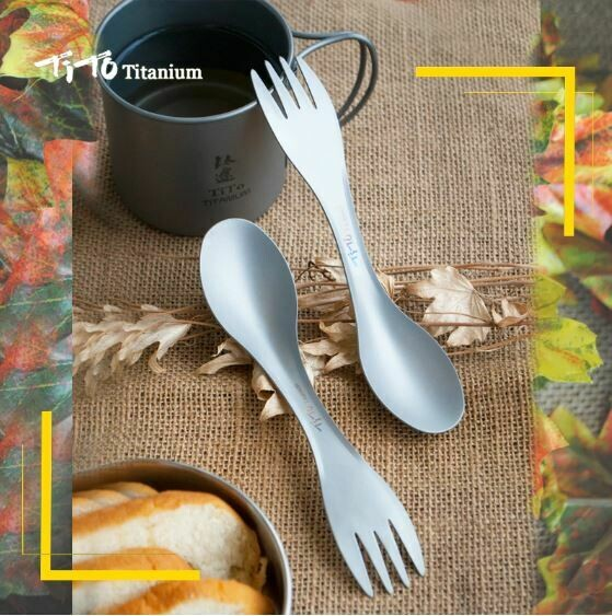 2 in 1! Spoon and fork for camping