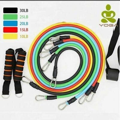 Set of 11 resistance straps