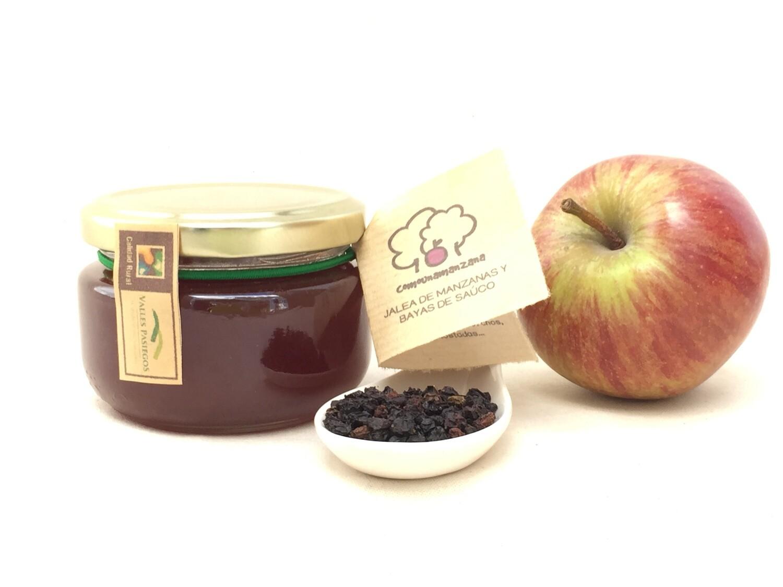 Jalea de manzanas y bayas de saúco ecológicas