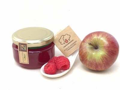 Jalea de manzanas y frambuesas ecológicas