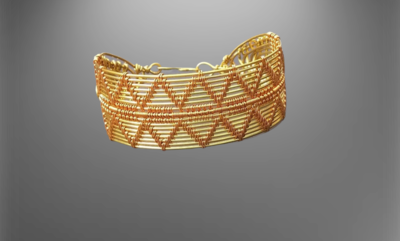 Handgjort unisex wire weave armband .