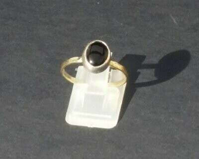 Sterling silver natural Svart Onyx ring .