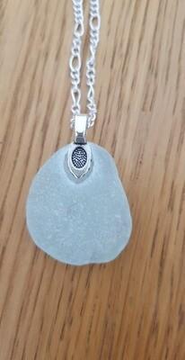 Beautiful Pale Aqua Sea Glass Pendant