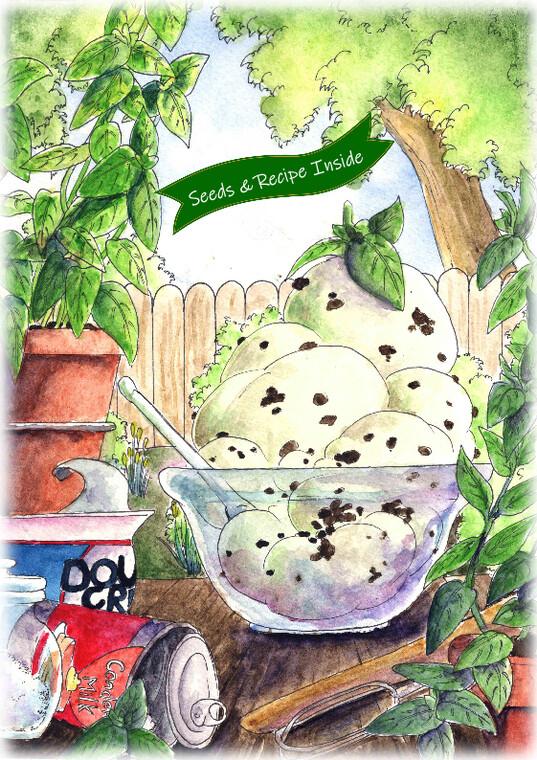 Cook With Love - No Churn Mint Choc Chip Ice-Cream