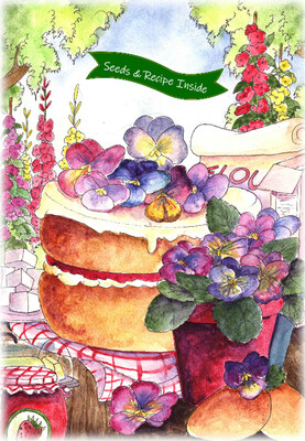 Cook With Love - Strawberry & Pansy Cake