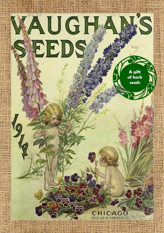 Beautifully Vintage Herb Card