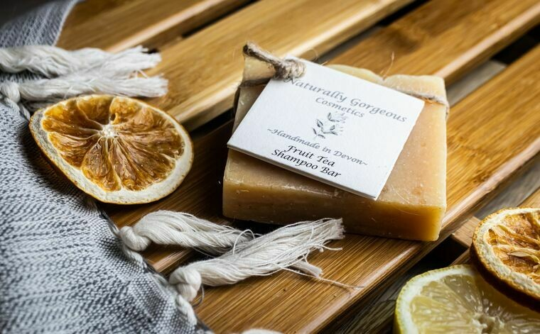 Fruit Tea Shampoo Bar (lemongrass, grapefruit and tea tree) 100g