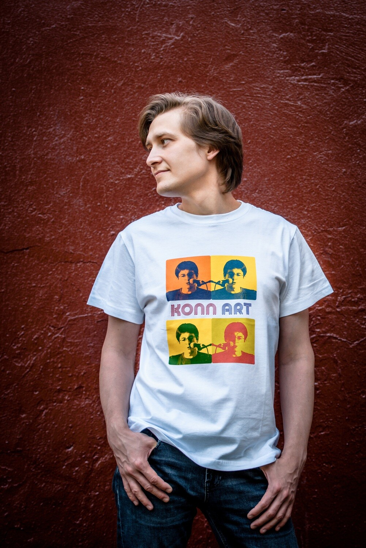 "Футболка мужская - специальная серия ""Влад Копп - 50 Anniversary - КоппАрт (Andy Warhol Style)"""