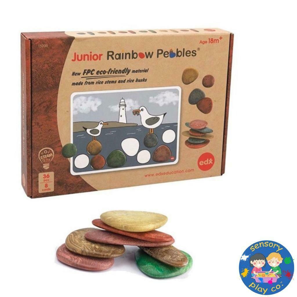 Eco-Friendly Junior Rainbow Pebbles (36 pebbles, 8 double-sided Activity cards)