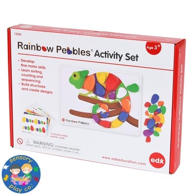 Rainbow Pebbles Activity Set (48 pebbles, 12 double-sided A4 size Activity cards)