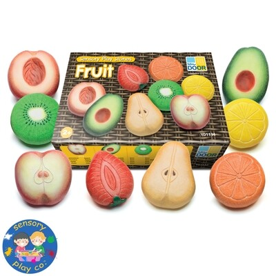Sensory Stones - Fruits (Set of 8)