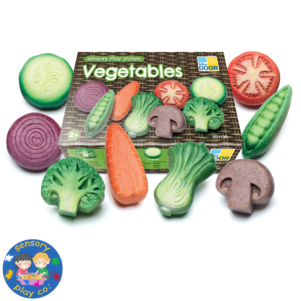 Sensory Stones - Vegetables (Set of 8)