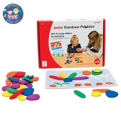 Junior Rainbow Pebbles (36 pebbles, 8 double-sided A4 size Activity cards)