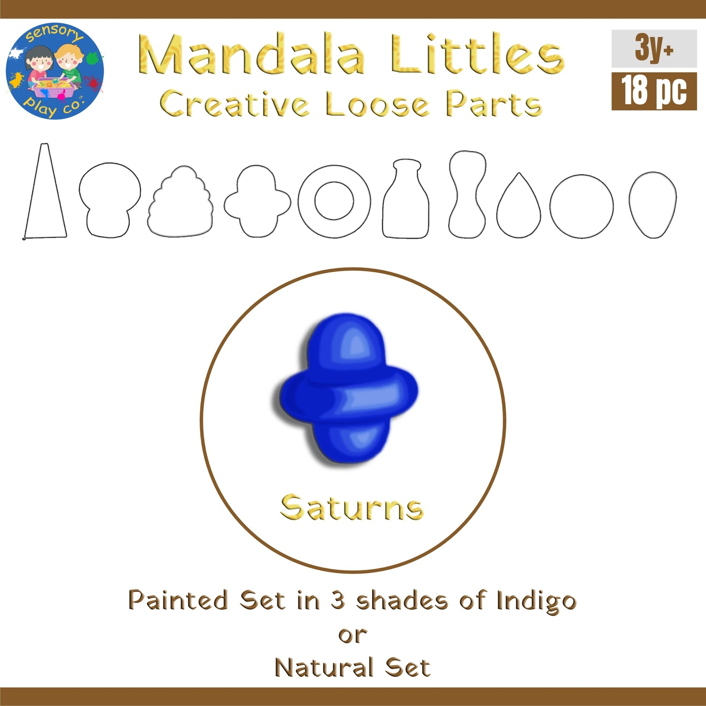 Mandala Littles - Saturns (18 pcs)