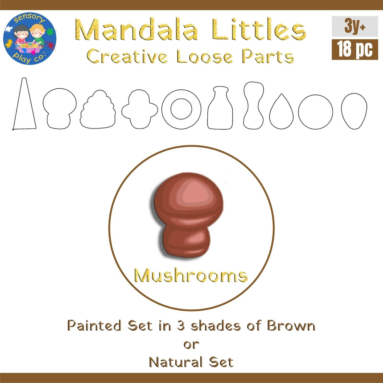 Mandala Littles - Mushrooms (18 pcs)