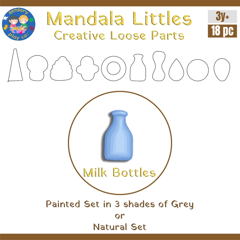 Mandala Littles - Milk Bottles (18 pcs)