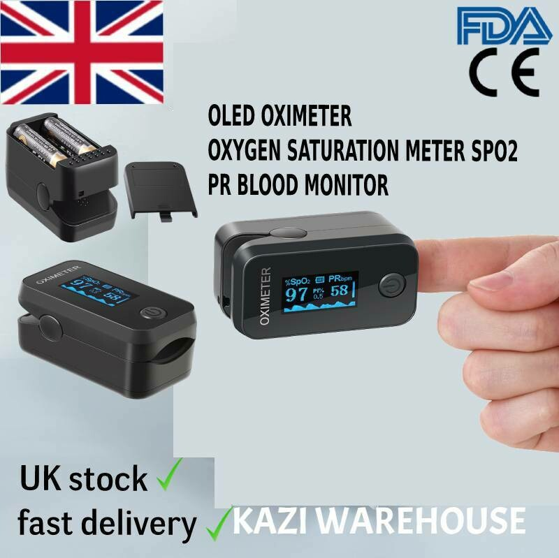 Pulse Oximeter Oxygen Saturation Meter SPO2 PR Blood Monitor.