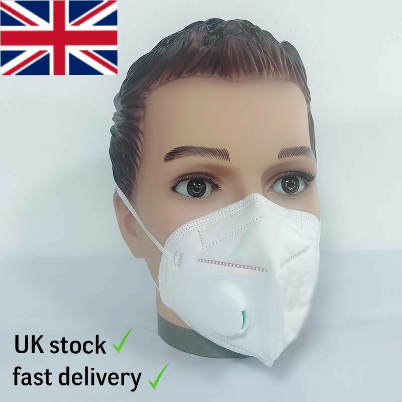 Face mask 5pcs Lot 95 % Protection with respirator valve. CE certified.