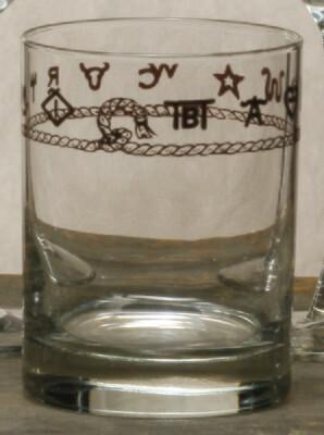 Whiskey glass, set of 4, Brands